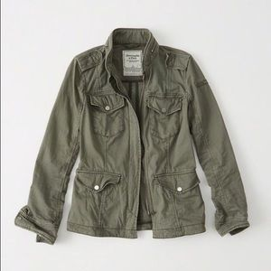 Abercrombie & Fitch Military Twill Shirt Jacket